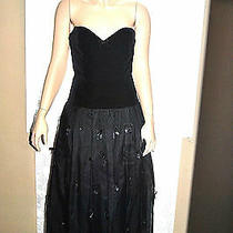 Vintage Fendi Evening Corset Gown Black Size 42 Stunning Great Condition Photo