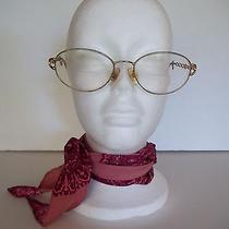 Vintage Fendi Gold Plated Eyeglasses Eyewear Photo