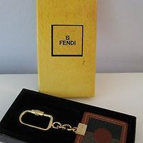 Vintage Fendi Leather and Canvas Keychain New in Box Photo