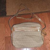 Vintage Fendi Monogram Shoulder Cross Body Bag Brown Purse Handbag  Photo
