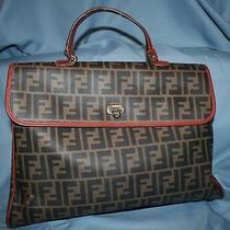 Vintage Fendi Zucca Book Bag  Photo