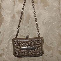 Vintage Fine Art Deco Coin Antique Gr Silver Chatelaine Chain Purse Small Patina Photo