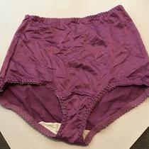 Vintage Flexnit Something Else Purple Nylon Panties Size X-Large. Made in Usa Photo