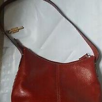 Vintage Fossil 1954 Red Genuine Leather Purse Shoulder Bag Tote Zb9092 Photo