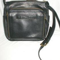 Vintage Fossil 75082 Black Leather Crossbody Messenger Bag Shoulder Purse Euc Photo