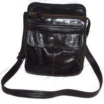 Vintage Fossil Black Leather Medium Size Messenger and Crossbody Bag Epc Photo