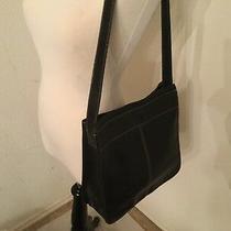 Vintage Fossil Black Leather Shoulder Bag  - Handbag - Tote Photo