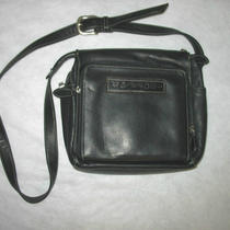 Vintage Fossil Black Pebble Leather Crossbody Messenger Bag/satchel 75082 Photo
