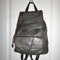 Vintage Fossil Black Pebbled Leather Backpack 75082 Medium Photo