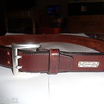 Vintage Fossil Brown Leather Belt Sz L  Photo