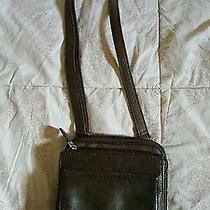 Vintage Fossil Brown Leather Crossbody Purse Handbag  Photo