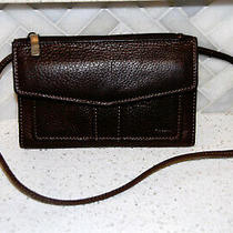 Vintage Fossil Brown Leather Wallet Bag/purse Crossbody Clutch Check Book  Photo