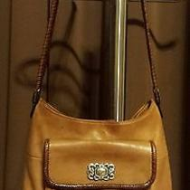 Vintage Fossil Brown Leather With Braided Strap and Trim Photo