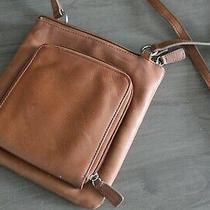 Vintage Fossil Brown Soft Leather Purse Crossbody Handbag Photo