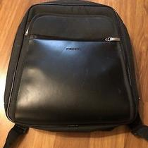 Vintage Fossil Casual Canvas/leather Backpack/laptop Bag Photo