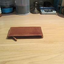 Vintage Fossil Ceckbook Cognac Color Genuine Leather Organizer Photo