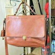 Vintage Fossil Crossbody Tote Shoulder Bag Handbag  Purse Leather Handle Strap  Photo