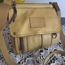 Vintage Fossil Genuine Glove Leather Brown Organizer Shoulder Crossbody Bag Photo