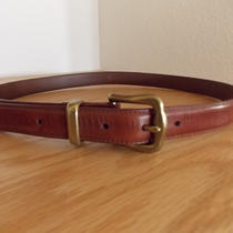 Vintage Fossil Genuine Leather Belt With Solid Brass Photo