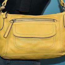 Vintage Fossil Hanover Yellow Leather Satchel Zip Shoulder Shopper Bag Purse Photo