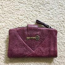 Vintage Fossil Leather Purple Wallet Photo