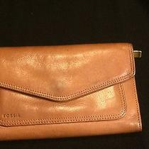 Vintage Fossil Leather Wallet Organizer With Zip Pocket That Fits Iphone 5 Photo