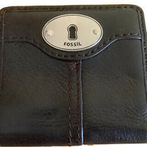 Vintage Fossil Mens Brown Pebbled Leather Bi-Fold Wallet Photo