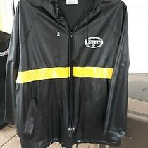 Vintage Fossil Mens Hooded Rain Jacket Full Zip  Waterproof  Size M  Photo