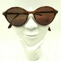Vintage Fossil Nelda Brown Red Oval Sunglasses China Frames Only Photo