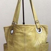 Vintage Fossil Olive Green Rugged Shoulder Handbag Photo