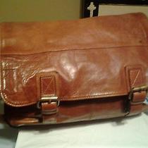 Vintage Fossil Revival Brown Leather Briefcase/laptop  Bag. Rare Bag Photo