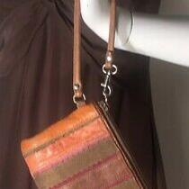 Vintage Fossil Suede and Leather Multi Colored Wristlet Photo