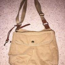 Vintage Fossil Tan Canvas 1954 Collection Purse Photo