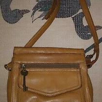 Vintage Fossil Tan Leather Crossbody Messenger Handbag Bag Purse 75082 Photo