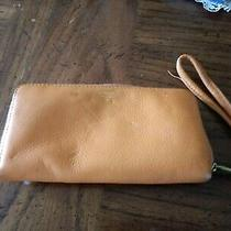 Vintage Fossil Wallet Clutch Zippered Organizer With Strap. Photo