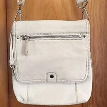 Vintage Fossil White Leather Crossbody Shoulder Purse Photo