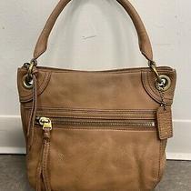 Vintage Fossil Womens Pebbled Leather Handbag Shoulder Bag Purse Brown Photo