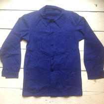 Vintage French Chore Work Jacket Navy Blue 1960s Hobo Artisan Photo