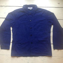 Vintage French Chore Work Jacket Navy Blue Hobo Artisan Photo