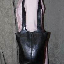 Vintage Frye Black Leather Shoulder Hobo Bucket Handbag Purse Exclnt Photo