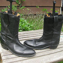 Vintage Frye Black Leather Western Boots 10.5 D Photo