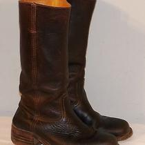 Vintage Frye Brown Leather Campus Boots Women's 9.5 Made in Usa Need Resoling Photo
