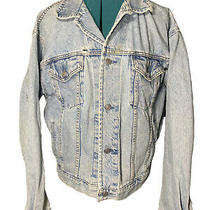 Vintage Gap Denim Jacket Mens Blue Jean Medium Usa Made Biker Vtg Photo