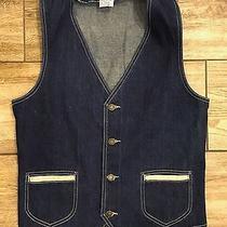 Vintage Gap Denim Jean Western Vest Size Medium Photo