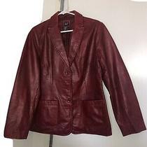 Vintage Gap Leather Blazer M   Photo