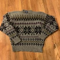 Vintage Gap Men's Grey Blue  Snowflake  Made in Hong Kong  Sweater Men's L Photo