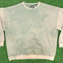 Vintage Gap Mens M Crewneck Sweatshirt Lime Green Thrashed Distressed Crew Sz M Photo