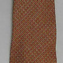Vintage Gap Patterned Mid-Century Modern Inspired Orange Tie Photo