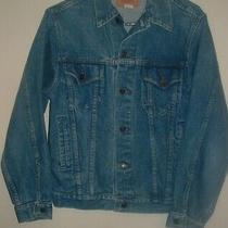Vintage Gap Pioneer Blue Denim Jean Jacket Mens Small Size 38 Usa Made Photo