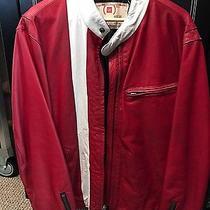 Vintage Gap Red Motorcycle Jacket Xl Photo